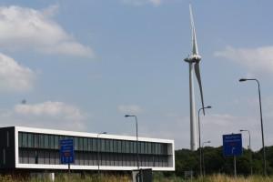 Windturbine naast Zutphenseweg Deventer